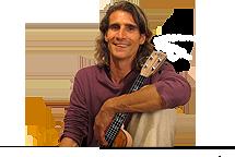 man holding a ukulele